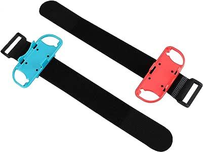 腕带 Just Dance 2020 2019 Nintendo 任天堂开关控制器游戏可调节松紧带适用于 Joy-Cons 控制器,适合成人儿童佩戴 4.72 - 7.5 英寸(约 12.7 - 19.1 厘米)手腕周长 2 件装