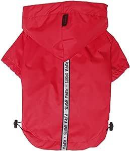 Puppia Authentic Base 跳线雨衣,3XL,黑色 红色 中