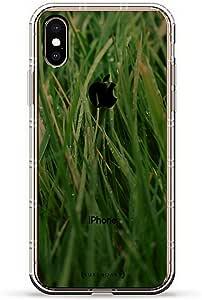ALBANIAN FLAG 奢华空气系列透明硅胶手机壳带 3D 印花设计和气袋垫缓冲垫适用于 iPhone Xs Max(新款 2018/2019 型号,带 6.5 英寸屏幕)LUX-IXPLAIR-GRASS1 WET GRASS SEETHROUGH 透明