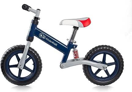 德国 KinderKraft可可乐园EVO Runner Bike儿童平衡车无脚踏滑行车双轮学步车减震避震自行车深蓝色