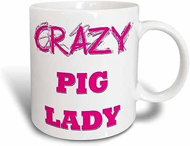 Blonde Designs Crazy Thumb Pointing Back Lady - Crazy Pig Lady - 11oz Magic Transforming Mug (mug_175226_3)