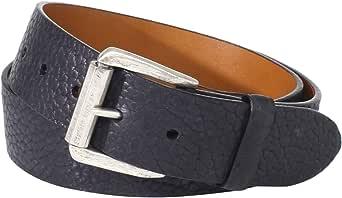 Trafalgar 男士 Bison Belt With Antiqued Roller Buckle 黑色 36