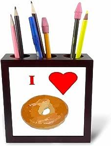 Florene Food n Beverage - Love Bagels - 瓷砖笔筒 5 inch tile pen holder