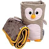 """儿童旅行枕和旅行毯套装 - """"Tux""""扶手伙伴可将任何扶手转换成舒适的儿童枕头"""