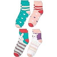 斑点斑马女童舒适袜子 4 双装