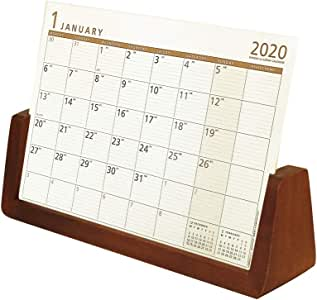 欧布 2020年 日历 桌上 简约木质 U型(L) 棕色