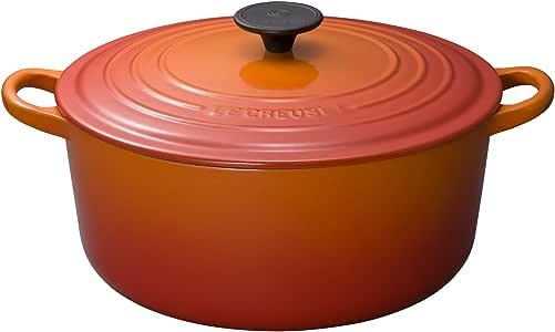 Le Creuset 酷彩 珐琅铸铁圆形法式烤箱,5-1 / 2夸脱(约4.73升),火焰色