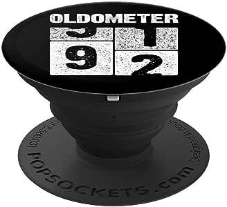 Oldometer 92 T 恤 92 岁生日礼物 生于 1927 年的 PopSockets 手机和平板电脑的抓握支架260027  黑色