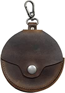 Hide & Drink,皮革相机镜头帽架,适合85毫米的帽子/收纳包/相机身体帽盒/配件/摄影师必备品,手工制作:波旁棕色