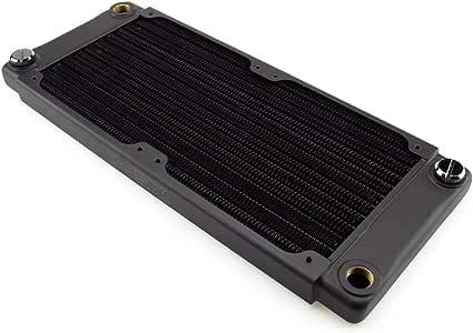 XSPC TX240 Crossflow 超薄散热器,120mm x 2,双风扇,黑色