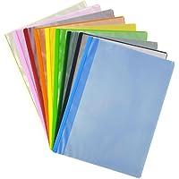 樱花彩色笔文件夹A4薄型 10口袋 9色套装