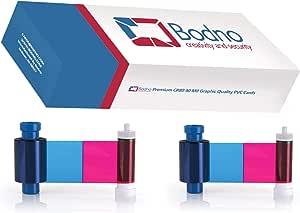 ID卡打印机丝带和卡 适用于 Evolis,Fargo,Datacard,Magicard Magicard Magicard MA300YMCKO x 2