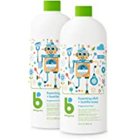 BabyGanics 泡沫洗碗皂补充装,无香料,32盎司(约907.18克),946毫升,2瓶,包装可能有所不同