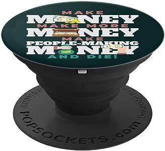 为手机和平板电脑提供更多现金、制作钞票 DIE PopSockets 握把和支架260027  黑色