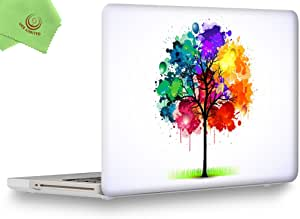 """ueswill soft-touch 哑光硬质壳盖适用于 MacBook Pro 33cm 38.1cm 20082009201020112012带 CD-ROM DVD 光驱非 Retina  A1278A1286 Pattern-Colorful Tree MacBook Pro 15"""" (CD-ROM Drive)"""
