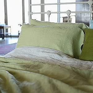 浅绿色石洗床亚麻羽绒被 浅绿色 大 5