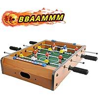 CIGOCIVI 20 英寸(约 50.8 厘米)桌上桌游,适用于家庭游戏之夜,带儿童便携式迷你桌面足球游戏,适合成人使…