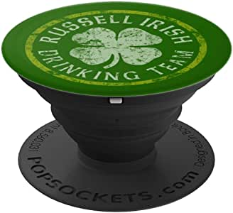 Russell 爱尔兰饮水队 圣帕特里克节 家庭姓氏 PopSockets 手机和平板电脑握架260027  黑色