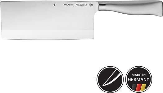 WMF Grand Gourmet 中式厨刀 31.5cm,特殊刃钢/锻造刀,优质裁切,刃长18.5cm