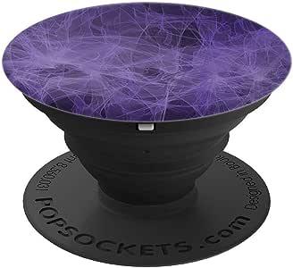 Cosmic Space Clouds 紫色烟雾 PopSockets 手机和平板电脑握架260027  黑色