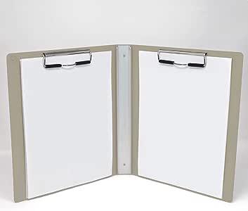 Carstens 重型书式剪贴板,带封面,2 个夹 沙色
