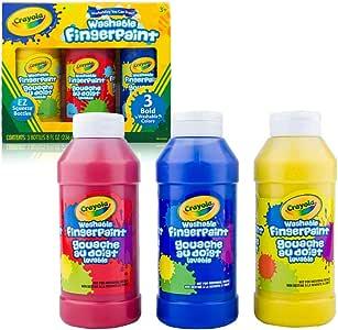 Crayola 绘儿乐 颜料3色可水洗手指画颜料 经典色