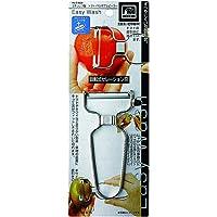 PEARL金属 Easy Wash 不锈钢制 番茄色・蔬菜 削皮器 【日本制造】 C-8638