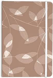 "KESS InHouse Everything Notebook,Journal by Alison Coxon""Leaf Tawny"",棕色/米色 (AC1059ANP01)"