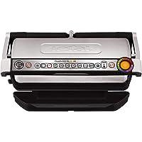 Tefal GC722D Optigrill plus XL, 电烤架,加大型号,带有附加温度等级设置和XL烤肉盘2000瓦,自动显示烹饪状态,9个预设烧烤程序,黑色/银色