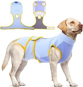 *猫狗宠物恢复套装,男女狗腹部*保护器,专业小狗**服绷带锥形E领替代,狗*和断奶背心