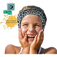 Will & Fox 游泳护耳带适合幼儿和婴儿,带耳塞 ~ 免费切割耳塞 ~ #1 头带 ENT *推荐 ~ 将塞固定在…