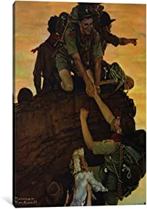 iCanvasART NRL383-1PC3 All Together Canvas Print by Norman Rockwell, 0.75 by 26 by 40-Inch