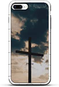 旗帜:阿尔巴尼亚国旗 | 豪华空气系列透明硅胶保护套带 3D 打印设计和气囊缓冲缓冲缓冲缓冲垫,适用于 iPhone 8/7 PlusLUX-I8PLAIR-CLOUD2 NATURE: CROSS & CLOUDS SEETHROUGH 透明