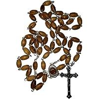 Zuluf 橄榄木念珠,带盒子和来自圣地土壤 - ZROS001