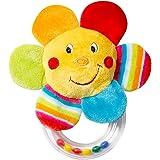 Fehn 摇铃玩具,摇铃,用柔软毛绒动物感知和玩耍,附带彩色摇铃 - 适合0个月以上的宝宝和幼儿 Blume, Clas…