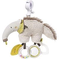 Fehn 068252 活动玩具动物食蚁熊 / 可悬挂的运动机能玩具,配有镜子和扣环,用于啃咬、抓握和发出声音 / 适用…