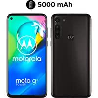 moto g8 power Dual-SIM Smartphone (6,4-Zoll-Max Vision-FHD+-Display, 16-MP-Hauptkamera, 64 GB/4 GB, Android 10) Schwarz inkl. Schutzcover & KFZ-Adapter [Exklusiv bei Amazon]