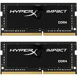Kingston金士顿 HyperX Impact 32GB笔记本内存条套装(2x16GB)2400MHz DDR4 CL14 260针 SODIMM HX424S14IBK2/32