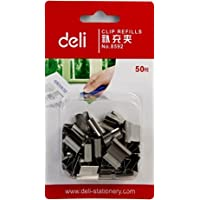 Deli 得力8592-推夹器夹纸器补充夹子 1卡装