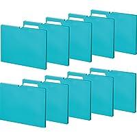 KOKUYO 文件夹 个别文件夹 NEOS A4 10册 10本套装/绿松石蓝 マチ15mm 松石蓝