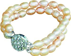 宠物淡水珍珠项链 - 天然 白色 X大码