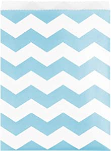 Creative converting 071626纸 treat 袋,臂章图案 Pastel Blue