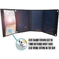 21 瓦便携式太阳能电池板充电器,双电源端口,可折叠面板,隔热