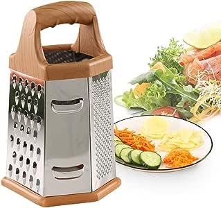 厨房削皮器六角形不锈钢适用于蔬菜、水果、土豆、胡萝卜、黄瓜、大蒜片、法式薯条等