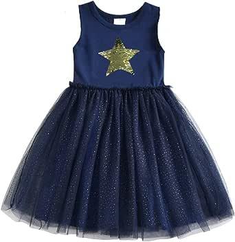 DXTON 小女孩儿童长袖花棉连衣裙 2-8T