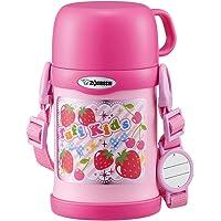 ZOJIRUSHI 水杯 两用式 不锈钢保温杯 吸管&杯盖 儿童水杯 450ml 粉红色 SC-ZT45-PA