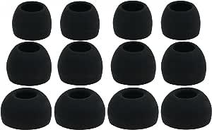 12 件 (ALL-B) 4S / 4M / 4L 替换耳适配器耳塞式耳塞套装 适用于Sennheiser IE 系列、CX 系列、CXC 系列、CXL 系列、OCX 系列和 MM 系列入耳式耳机/耳机