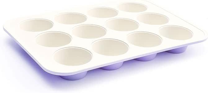 GreenLife 烤盘陶瓷饼干板 紫色(Lavender) Muffin Pan CC002524-001