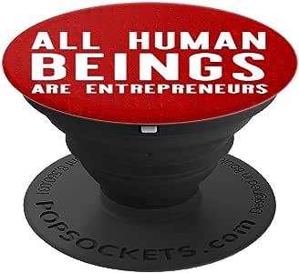 All Human Beings 是企业家的 PopSockets 手机和平板电脑握架260027  黑色