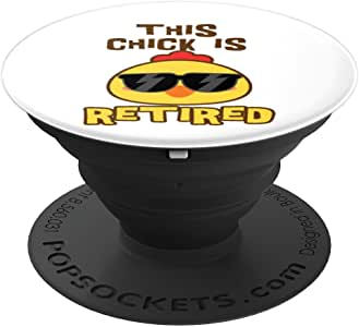 Retirement Funny This Chick Is Retired 女式礼物 - PopSockets 手机和平板电脑抓握支架260027  Retirement Funny This Chick Is Retired Women Gift 黑色